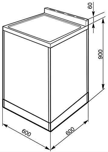 JUB-5604 Smeg SUK62CBL8 Ceramic Cooker