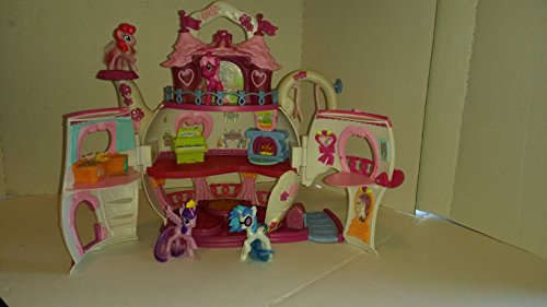 My Little Pony Ponyville Teapot Palace House Playset with 4 bonus Ponies Pre-owned