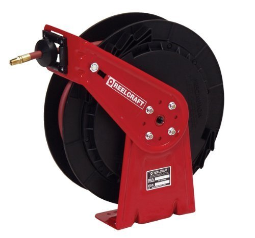 Reelcraft Spring - Reelcraft RT435-OHP 1/4-Inch by 35-Feet Spring Driven Hose Reel for Grease by Reelcraft