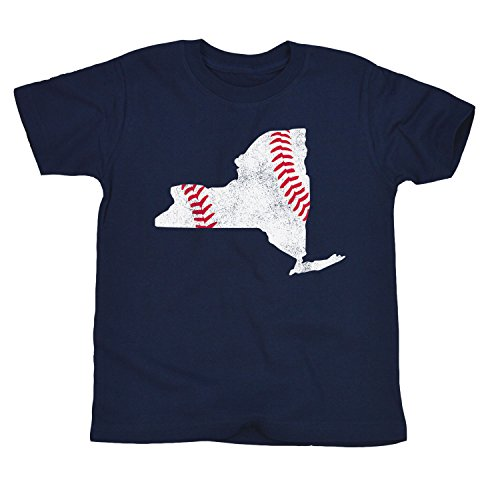 New York Baseball Fill-Toddler Short Sleeve TEE-5T Navy ()