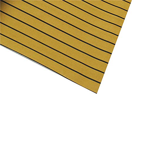 Anddoa EVA Foam Deep Yellow with Black Strip Boat Flooring Faux Teak Decking Sheet Pad - #001 by Anddoa (Image #4)