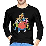 JENNIFERHARRISON Fat Albert and The Cosby Kids Men 100% Cotton Long Sleeve Round Collar Comfortable T-Shirts
