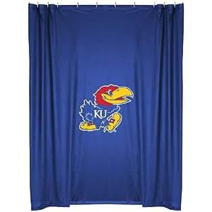 Kansas Jayhawks Combo Shower Curtain Valance Drape Set Drapes Size 82 X 63