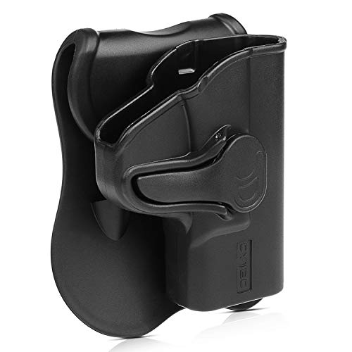(S&W MP Shield 9mm OWB Holster, Custom Molded to Fit Smith & Wesson M&P Shield M2.0 9mm .40 3.1 Inch Barrel,Outside The Waistband Paddle Holter with 360 Rotations - RH)