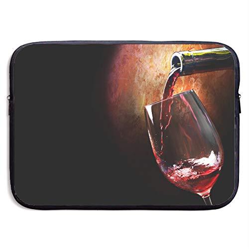 Laptop Sleeve Bag Wine Glass Waterproof Computer Bag Zipper Notebook Case 137 (137 Glasses)