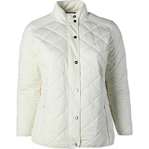 Lauren by Ralph Lauren Womens Plus Quilted Long Sleeve Basic Jacket Ivory - Women Cheap Ralph Lauren