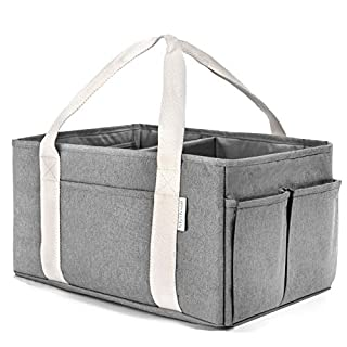 Blythson Baby Diaper Caddy Organizer, Portable Nursery Storage Bin, Grey