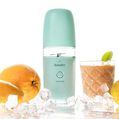 Portable Blender, Cozibot Travel Blender for Smoothies and Shakes, Rechargeable USB Blender for On The Go, Single-Serve Travel Blender, Personal Blender Fruit Juicer Cup with Ice Tray(FDA BPA-Free)