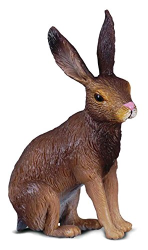 CollectA Woodlands Brown Hare Miniature Toy Figure - Authentic Hand Painted ()