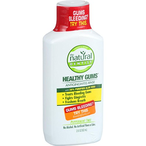 Natural Dentist Anti Gingivitis Rinse - Healthy Gums - Peppermint Twist - Treats Bleeding Gums - Freshens Breath - 2 oz (Pack of 2)