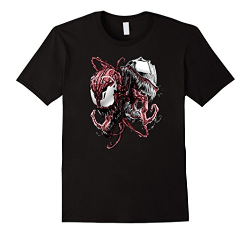 [Men's Marvel Carnage and Venom Graphic T-Shirt Men, Women Large Black] (Female Superheroes And Villains)
