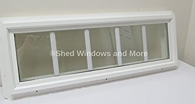 10 X 36 Double Pane Transom Window Insulated Pvc Frame With Grids