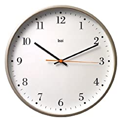 BAI Jumbo Wall Clock, Bodoni Titanium