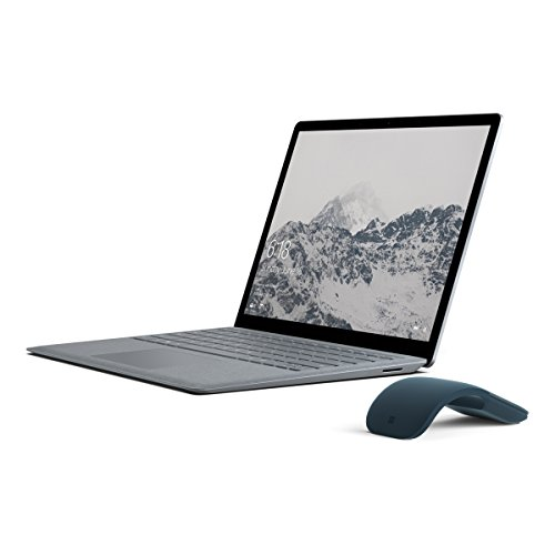 Price comparison product image Microsoft Surface Laptop (Intel Core i5,  4GB RAM,  128GB) - Platinum with Cobalt Blue Mouse