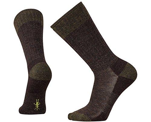 Smartwool Mens Hiker (Smartwool Men's Heathered Hiker Crew Socks (Chestnut) Large)
