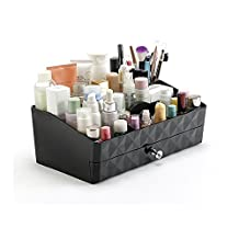 RunHigh Makeup Organizer Drawers Multifuction Jewelry Chest Plastic Colorful Brush Cosmetic Storage