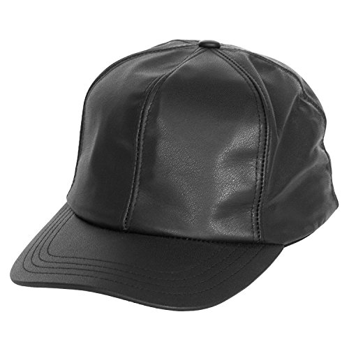 Levine Men's Structured Fitted Garment Leather Baseball Cap (XLarge (fits 7 1/2 to 7 5/8), ()