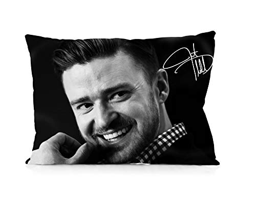 Justin Timberlake Hot Singer Signature Pillowcase Size 20x30 Inches Two Sides Print Zipper Pillowcases