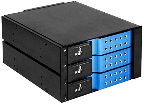 iStarUSA BPN-DE230SS 2 X 5.25-Inch to 3 X 3.5-Inch SAS/SATA Trayless Hot-Swap Cage (Blue)