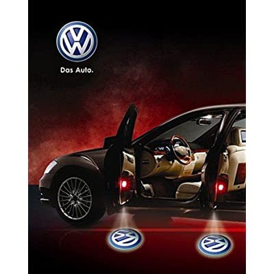 Soondar 2 pcs Universal Wireless Car Projection LED Projector Door Shadow Light Welcome Light Laser Emblem Logo Lamps Kit, No Drilling - No Drilling Required: Automotive