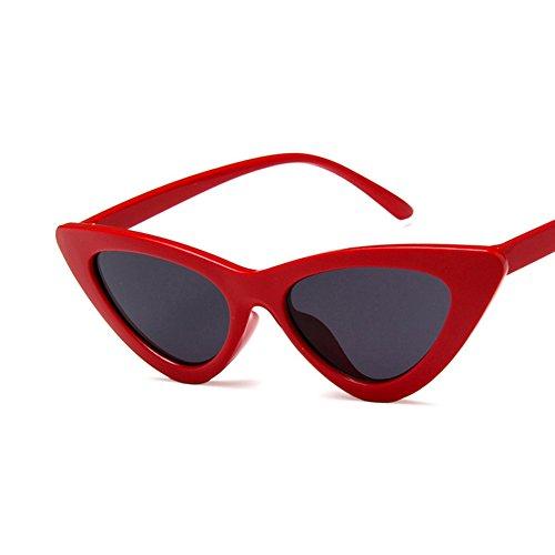 Lens Cat valentin Cadeau Vision Saint Rétro With Uv400 Soleil Triangle Black Eye Lunettes De Red Propre Bright IvpwxqHa
