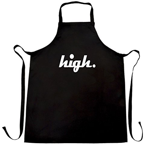 High Wasted Stoned Weed Cannabis Hipster Apron