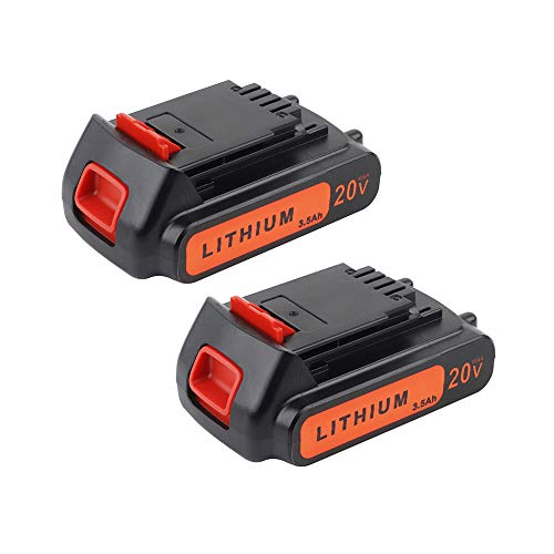 Sankeup Upgraded 2 Pack 20v 3500mAh Lithium-Ion Replacement Battery for Black&Decker LBXR20 LB20, LBX20 Cordless Tool Battery