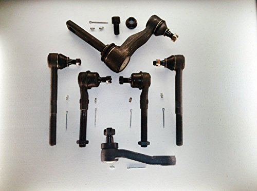 PartsW 6 Piece Kit Inner & Outer Tie Rods And Idler & Pitman Arms 2WD