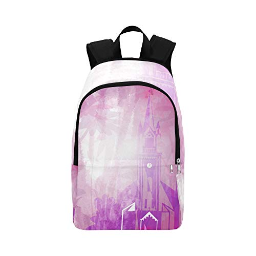 AIKENING Church Purple Violet Building Casual Daypack Travel Bag College School Backpack for Mens and Women by AIKENING