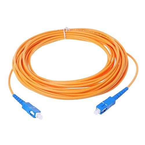 Calvas SC/UPC-SC/UPC-SM 3mm Fiber Optic Jumper Cable Single Mode Extension Patch Cord - (Color: 10)