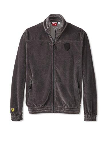Puma Lifestyle Ferrari Velour Men`s Jacket (Small, Dark Shadow)