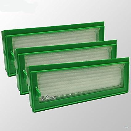3 pieza filtro HEPA Allergie Filtros de repuesto para aspiradoras Vorwerk Kobold VR200 VR 200 Robot