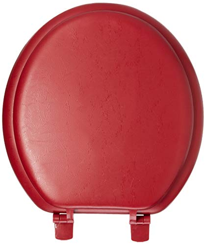 Toilet Seat with Plastic Hinges, Merlot ()