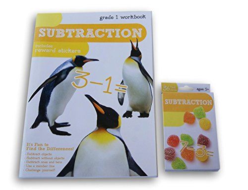 Subtraction Discovery Workbook with Reward Stickers and Flas