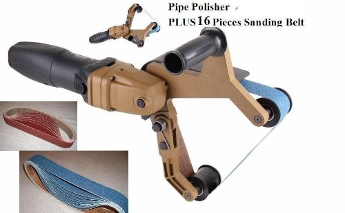 Pipe and Tube Polisher Sander Grinder 16 Pieces Zirconia Sanding Belt for Polishing Stainless Steel belt fits hardin and metabo 18 months warranty