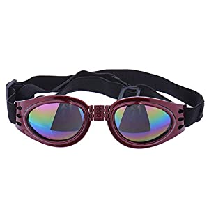 Zaote Beautiful Framed Pet Puppy Dog UV Protection Doggles Goggles Sunglasses Eyewear Red