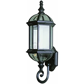 Trans globe lighting 4180 bk outdoor wentworth 22 25 wall lantern black