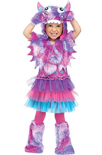 Fun World Costumes Baby Girl's Polka Dot Monster Toddler Costume, Pink/Blue, Small
