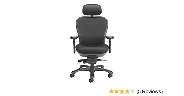 Amazon.com: CXO Executive Mid Back Chair in Black w Headrest (Black): Kitchen & Dining