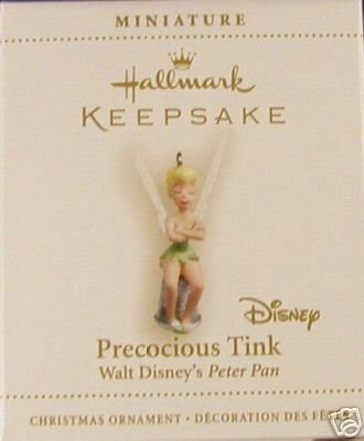 Ornaments Mini 2006 - PRECOCIOUS TINK - MINI - DISNEY - 2006 HALLMARK CHRISTMAS ORNAMENT