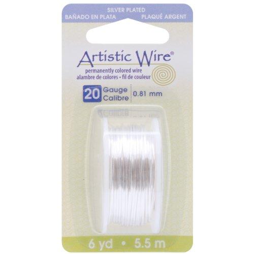 Beadalon Artistic Wire 20-GaugeTarnish Resistant Silver Wire, (Nylon Wire)