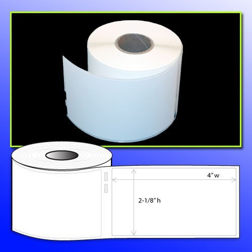 BPA FREE OfficeSmartLabels 2-1/8 x 4 Address Label, Dymo 30573 Compatible for DYMO LabelWriters 330 400 450 Twin Turbo Duo 4XL Printer