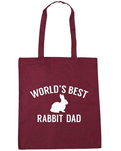 HippoWarehouse del mundo mejor papá de conejo bolsa de la compra bolsa de playa 42cm x38cm, 10litros granate