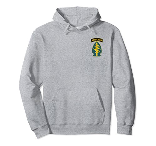 - Unisex US Army Special Forces Green Berets Military Hoodie Medium Heather Grey