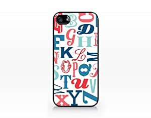 Typography Alphabet Letters, iPhone 5 case, 2D printed clear hard case