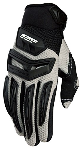 CRAZY AL'S SCOYCO MX54 Gloves Professional Motorcycle Motocross Racing Full Finger Gloves Sportswear Cycling Outdoor Sports Gloves Yellow Red White Grey Green M/L/XL/XXL (L, Grey)