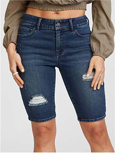 G by GUESS Women's Lena Long Denim Board Shorts