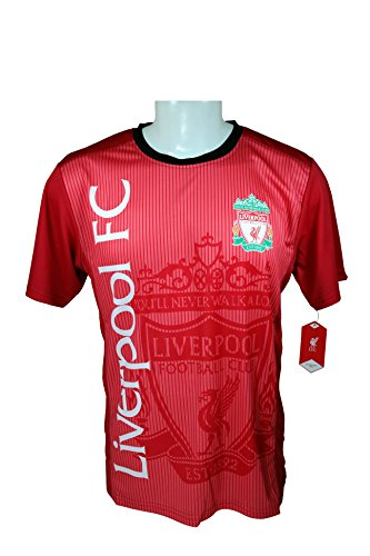 Liverpool F.C. Soccer Official Adult Soccer Training Performance Poly Jersey Rhinox-J010 Medium