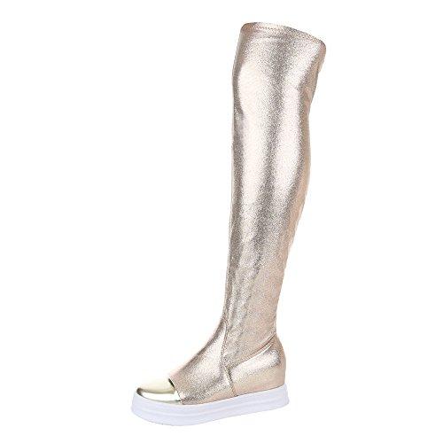 Ital-Design - botas clásicas Mujer dorado