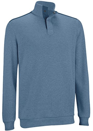 Ashworth French Rib Woven Pullover Graphite Heather Medium